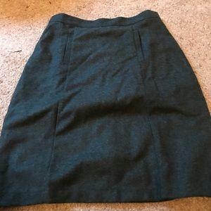 Green Wool ModCloth Pencil Skirt Size L